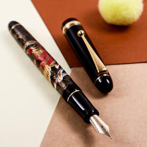 New Pilot Custom 74 Urushi Art Rising Phoenix Blue 14K Gold SF Nib Fountain Pen