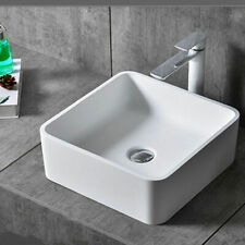 Modern Square Bathroom Basin Sink Ceramic Bowl Vanity Counter Top Cloakroom Wash