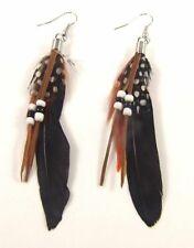 Feather Boho Bohemian Beaded Drop Dangle Hook Beach Earrings Earings Jewellery