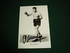 MAX SCHMELLING BOXER SIGNED POSTCARD SIZE PHOTO  (DECEASED 2005)