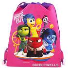 Disney Pixar Inside Out Authentic Licensed Pink Drawstring Bag
