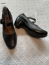 NAOT Mary Jane Pump Comfort Shoes Wedge Heels Studs & Leather Black Womens 38 7