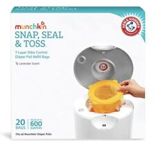 Munchkin Arm And Hammer Diaper Pail Snap, Seal And Toss Refill Bags, Holds 600