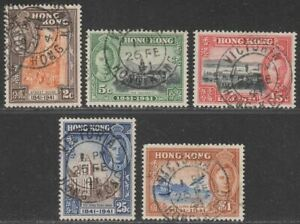 Hong Kong 1941 KGVI Centenary Part Set to $1 Used First Day Postmarks