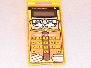 Vintage, Retro, Little Professor Toy, Texas Instruments, Boxed & Instructions