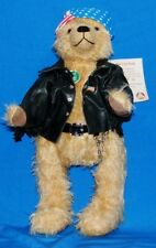 """Mint Hermann Ltd. Ed. 17"""" Born to Ride Motorcycle Mohair Bear #87 Of 500 made."""