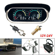Car Auto LCD Digital Water Temperature Oil Pressure Fuel Gauge Panel With Sensor