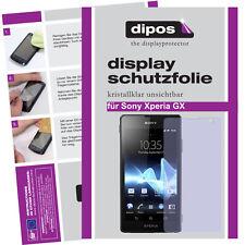 1x Sony Xperia GX Schutzfolie klar Displayschutzfolie Folie unsichtbar Passgenau