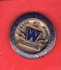 (pgasteelers1) Westinghouse Electric & Mfg. Corporation 5 Years service  pin