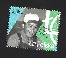 stamp Polish famous cycling coach Henryk Łasak MNH Course de la Paix