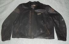 Harley Davidson Black & Grey Leather Motorcycle Jacket 2XL