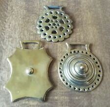 3 X Vintage solid  Horse Brass's
