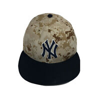 New Era 59Fifty 5950 Yankees Camouflage Fitted Hat Cap 7 1/8