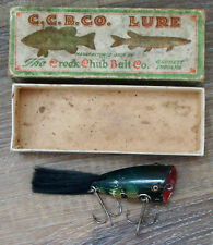 Vintage C. C. B. Co. Plunking Dinger #6200 Wood Fishing Lure in unmarked Box!