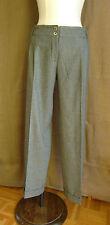 ADOLFO DOMINGUEZ Pantalon pinces large  Flanelle 50% Laine gris 38  parfait état