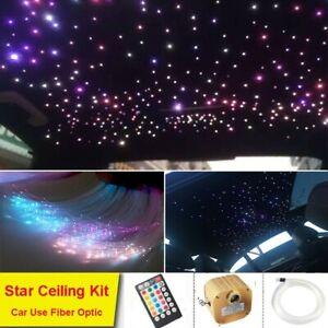 Remote/Phone Bluetooth LED Twinkle Fiber Optic Star Light Kit 550 Strands 2M 12V