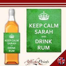 Personnalisé vert gin spiritueux label sign A4 plaque métal