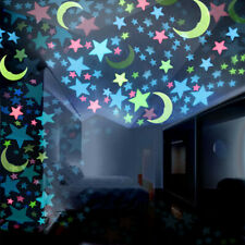 100PC Kids Bedroom Fluorescent Glow In The Dark Stars M oons Wall Stickers