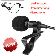 Professional Deluxe Lavalier Lapel Clip-on Omnidirectional Condenser Microphone