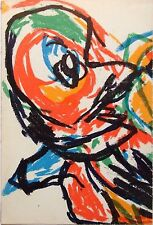 "KAREL APPEL mounted original lithograph, 1965, 14 x 11"", COBRA art brut KA3"