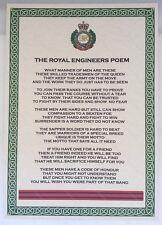Royal Engineers Poem British Army Corps Regiment RE