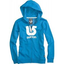 Burton Boys Logo Vertical Fullzip Hoody (M) Heather Bombay
