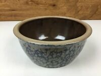 Beaumont Brothers Pottery Salt Glaze Stoneware Spongeware 6 1/4 Inch Dated 1994