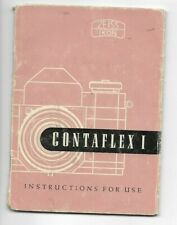VINTAGE-INSTRUCTION BOOKLET-ZEISS IKON-CONTAFLEX I