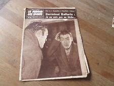 JOURNAL MIROIR DES SPORTS BUT CLUB  721 22  decembre 1958 germinal ballarin
