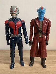 "Marvel Titan Hero Series Guardians Of Galaxy 12"" Starlord & Yondu Figures In VGC"