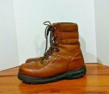 "Wolverine Men'S 8"" Work Boots. Brown Leather Size 11Ew"