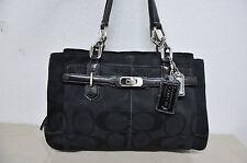 COACH 17806 Chelsea Signature Jayden Black East West Satchel Shoulder Handbag
