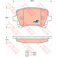 TRW gdb1622 Pastiglie pastiglie freno posteriore VW