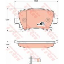 Trw gdb1622 balatas zapatas atrás VW
