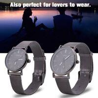 Fashion Couples Men Women Analog Quartz Stainless Steel Bracelet Wrist Watch