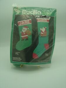"Vtg. Bucilla "" Christmas Time"" Yarn Kit Stocking #7940 To Knit Or Crochet NIP"