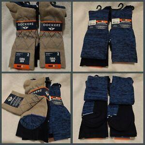 Men's Dockers 6-pack Argyle Patterned & Solid Dress Socks Khaki Assortmt Sz 6-12