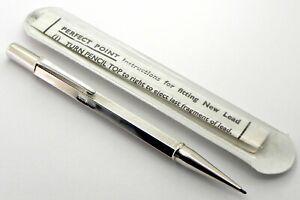 Vintage Solid Silver Propelling Pencil, D&F Ltd, Birmingham 1967, By Wm Manton