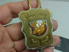Fraternal LOYAL ORDER MOOSE LODGE Bolo Lariat P.A.P Gold-tone PURITY AID PROGRES