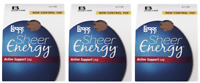Pack of 3 L'eggs Sheer Energy Active Support Suntan
