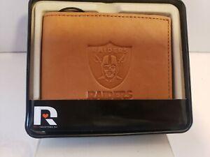 Oakland Las Vegas Raiders STANDARD Authentic Embossed Leather Billfold Wallet
