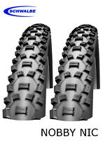 """Schwalbe Nobby Nic 26"""" Tyre -  26x2.25 (57-559) (Wired) - 2 Tyres"""