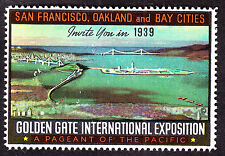 US 1939-40 San Francisco Expo Cinderella Poster Stamp OG NH