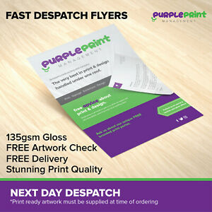 FAST DELIVERY Leaflets / Flyers Printed on 135gsm gloss - A4 / A5 / A6 / DL