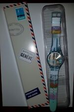 @@ SWATCH GREETINGS FROM GENEVA - BOUT DU LAC SUOZ249 NEW