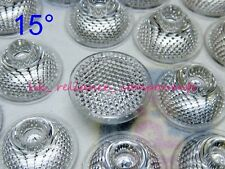 LED Lens Beaded 15 degrees 15° Collimator for 1W 3W LEDs 6 pcs