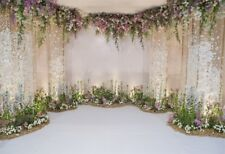 Wedding Flower Wall 9x6ft Photography Backgrounds Seamless Floral Photo Backdrop