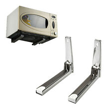 Microwave Oven Bracket Wall Mount Foldable Stretch Shelf Rack Stainless Steel TP