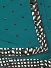 Designer Saree Blouse Set Mumbai  Pure Georgette Sequin Crystals SAREE SALE!!!!
