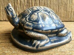 XXIII 1923 Rookwood Art Pottery Turtle Tortoise 1686 Brown Black Paperweight Vtg